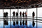 United Arab Emirates, Dubai. Downtown Dubai, At The Top of Burj Khalifa, the Observation Desk