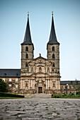 front view of monastry church St. Michael Bamberg, Frankonia Region, Bavaria, Germany, UNESCO World Heritage