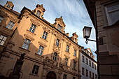 baroque house facade in Bamberg's Old Town alleys, Bamberg, Frankonia Region, Bavaria, Germany, UNESCO World Heritage