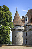 one of the towers of the Chateau de Monbazillac France.