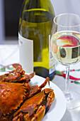 shellfish and white wine.