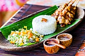 Indonesian rice traditional recipe. City of Yogyakarta, Java island, Indonesia, Asia.
