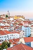 View of Alfama quarter from Mirador de Portas do Sol, Lisboa, Portugal.