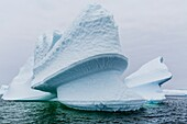 Iceberg detail off Booth Island, Western side of the Antarctic Peninsula, Antarctica.