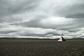 Airfield. North Iceland.