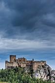 Loarre mediaeval Castle, 11th century. Huesca, Aragon, Spain.