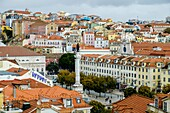Baixa panoramic views Lisbon, Portugal.