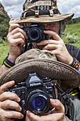 Photo safari, Hells Gate National Park in Kenya.