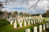 Commonwealth war cemetery in Ryes, Normandy, France, Europe.