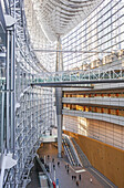 Tokyo International Forum, Congress center by architect Rafael Vinoly, Tokyo, Japan.