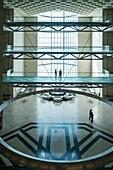 Interior of Museum of Islamic Art in Doha Qatar.
