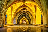 The ´Baths of Lady María de Padilla´ are rainwater tanks beneath the Patio del Crucero. The tanks are named after María de Padilla, the mistress of Peter the Cruel. The Alcázar of Seville is a royal palace in Seville, Spain, originally developed by Mooris