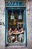 Restaurante Ojala, Calle de San Andres 1, in Malasana quarter. Madrid, Spain.