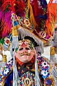 The locals of small highland town of Chichicastenango dress up to celebrate the Festa of San Tomas, Guatemala, Central America.