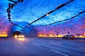 Laerdal Tunnel, Laerdalstunnelen (the world´s longest at 24,5 km) Aurland, Norway.