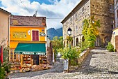 Corte Old Town - Shop with local products, Corsica Island, France