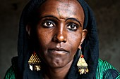 Woman belonging to the Afar tribe ( Afar state, Ethiopia). She is her husband first wife in a polygamous marriage.