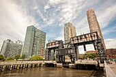 Gantry Plaza State Park, in the neighborhood of Long Island City in New York seen on Saturday, September 26, 2015. The formerly industrial waterfront is experiencing heavy development partially because of it´s proximity to Manhattan