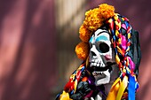 A decorated skeleton figurine is seen at the altar of the dead (altar de muertos), a religious site honoring the deceased, during the Day of the Dead celebration in Morelia, Michoacán, Mexico, 3 November 2014. Day of the Dead (â.Día de los Muertosâ.) is a