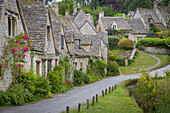 Arlington Row - old homes built for the local weavers, Bibury, Gloucestershire, England.
