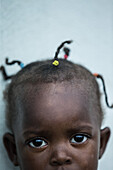 Potrait of a little native girl, Sao Tome, Sao Tome and Principe, Africa