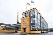 Fagus Factory, interior, employee, shoe last production, Walter Gropius designed building, heritage, Unesco World Heritage Site, Alfeld, Lower Saxony, Germany