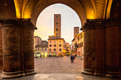 Noble towers, Piazza Duomo, Alba, Piedmont, Cuneo, Italy