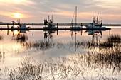 Jekyll Wharf at Sunset - Jekyll Island, Georgia USA.