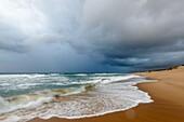 Storm at sea on the Maputaland Coast. Mabibi. iSimangaliso Wetland Park (Greater St Lucia Wetland Park). KwaZulu Natal. South Africa.