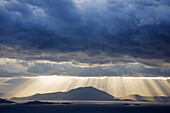 Dramatic sky above the Pagasitic Gulf (Thessaly, Greece).