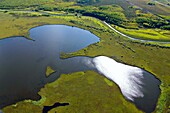 Nature of the Yamal-Nenets Autonomous District from the air.
