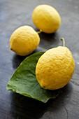 Lemons on table.