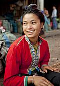 Akha Woman In Market, Muang Sing, Laos.