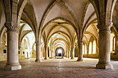 Monks Dormitory - Santa Maria Monastery of Alcobaca, Portugal. Unesco world heritage.