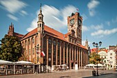 Historic Town Hall in Torun old town, Kujawsko-Pomorskie province, Poland. UNESCO World Heritage Site.