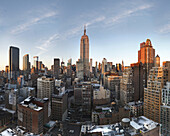 empire state from 230 fifth rooftop. nyc.