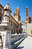 Metropolitan Cathedral of the Assumption of Virgin Mary. Palermo, Sicily. Italy.