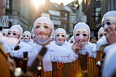 Belgium, carnaval of Binche. UNESCO World Heritage Parade Festival. Belgium, Walloon Municipality, province of Hainaut, village of Binche. The carnival of Binche is an event that takes place each year in the Belgian town of Binche during the Sunday, Monda