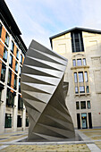 'London, England, UK. Spiral metal sculpture - ´Angel´s Wings´ (Thomas Heatherwick; 2002) in Bishop´s Court, between Paternoster Square and Ave Maria Lane - act as cooling vents for a London Electricity substation.'