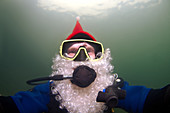 underwater Santa Claus, Odessa, Ukraine.