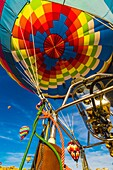 A hot air balloon envelope, Albuquerque International Balloon Fiesta, Albuquerque, New Mexico USA
