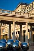 Early morning in the courtyard of Palais Royal, Paris, France.