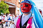 One character called Dancer. Pecados and Danzantes de Camuñas, sins and dancers, is a declared national tourist interest, on Thursday Corpus Christi in the municipality of Camuñas, Toledo, Castilla La Mancha, Spain, Europe.