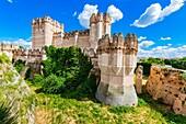 Castillo de Coca, Coca Castle, is a fortification constructed in the 15th century. Coca, Segovia, Castilla y León, Spain, Europe.
