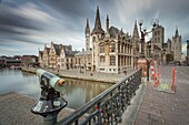Ghent old town from St Michael´s bridge, Belgium.