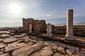 'Ruins of ancient Laodicea, a prosperous Roman market town on the trade route from the east, famous for its woolen and cotton cloths, and an early centre of Christianity and one of the Seven Churches of Revelation; Laodicea, Turkey'