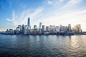 'Manhattan Skyline, with the new world trade centre; New York City, New York, United States of America'