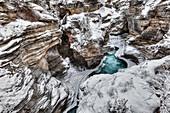 'Athabasca canyon, Athabasca Falls, Jasper National Park; Alberta, Canada'