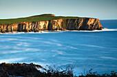 'Coastal cliffs around Toe Head on the Wild Atlantic Way in West Cork; County Cork, Ireland'