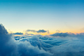 View Above the Clouds, Beautiful Sunset Cloudscape